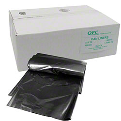 QFC Low Density Can Liner - 33 x 39, 1.5 mil EQ, Black