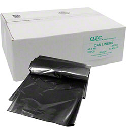 QFC Low Density Can Liner - 40 x 46, 1.5 mil EQ, Black