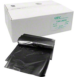 QFC Low Density Can Liner - 43 x 47, 1.25 mil EQ, Black