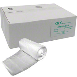 QFC Low Density Can Liner - 24 x 32, .7 mil, Clear