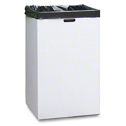 "White Corrugated Trash Container -18"" x 18"" x 30"""