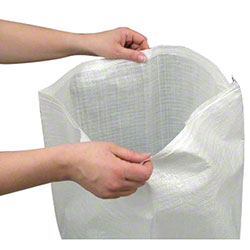"Woven Polypropylene Bag - 22"" x 36"", White"