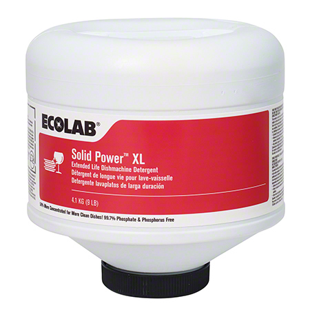Ecolab® Solid Power XL w/GlassGuard™ - 9 lb.