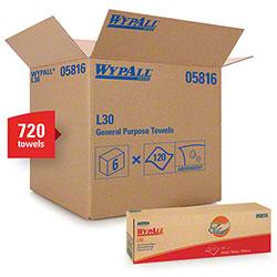 "Kimberly-Clark® WYPALL® L30 Wiper - 16.4"" x 9.8"", White"