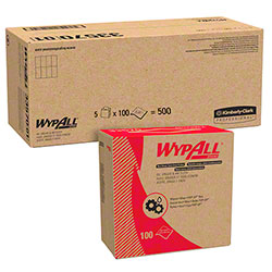 """Kimberly-Clark® WypAll® Oil, Grease & Ink Cloth - 8.8"""" x 16.8"""", Blue"""