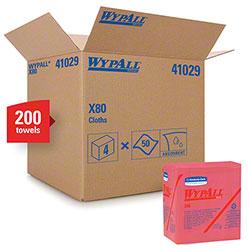 Kimberly-Clark® WYPALL® X80 1/4 Fold Wiper - Red