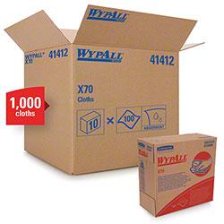 "Kimberly-Clark® WYPALL® X70 Wiper - 9.1"" x 16.8"", Blue"