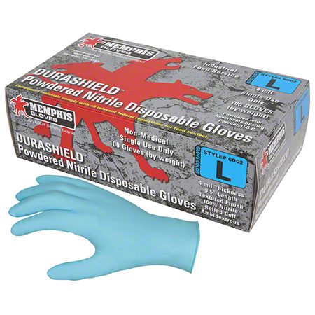 Memphis DuraShield® Powdered Nitrile Disposable Glove - Large