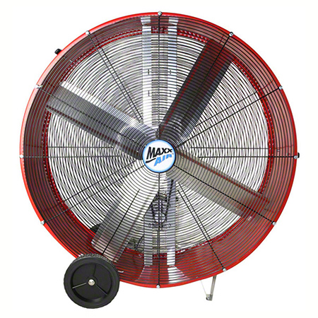 "MaxxAir™ Belt Drive Heavy Duty Portable Barrel Fan - 36"", Red"