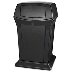 Rubbermaid® Ranger® Container - 45 Gal., w/Doors,Black