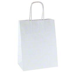 Shamrock 100% Recycled White Kraft Shopper - Chimp