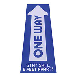 "Rectangle One Way Arrow Decal - 7"" x 22"""