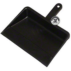"Zephyr® 12"" Plastic Dust Pan - Black"