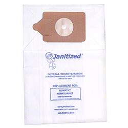 Janitized® 2-Ply Paper/Meltblown Micro Filter Vac Bag