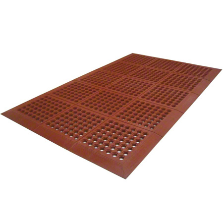 Axia Premium Beveled Edge Grease Resistant Mat - Red