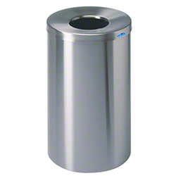 Frost™ Stainless Steel Round Lobby Waste Container-32 Gal