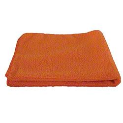 "Globe™ 240 GSM Microfiber Cloth - 16"" x 16"", Orange"