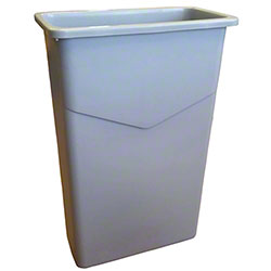 Globe™ Slim Container - 23 Gal., Grey