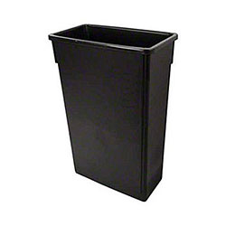 Globe™ Slim Container - 23 Gal., Black