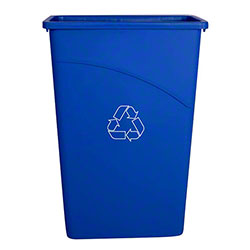 Globe™ Slim Container - 23 Gal., Blue