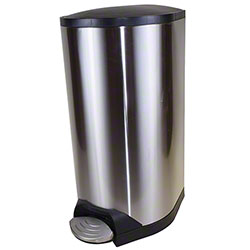 Globe™ Stainless Steel Step-On Container w/Soft Close Lid