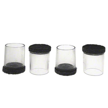 """Flexi-Felt® Clear Sleeve Dark Felt Floor Protector - 3/4"""""""
