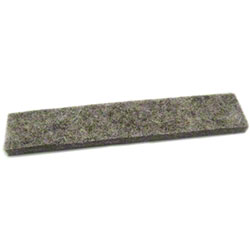 "Flexi-Felt® Industrial Adhesive Strip Pad -3/4""x4"" , Dark"