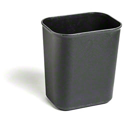 M2 Professional Waste Basket - 8 Qt., Black