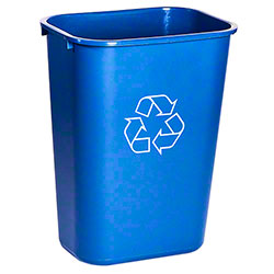 M2 Professional Recycled Waste Basket - 38 Qt., Blue