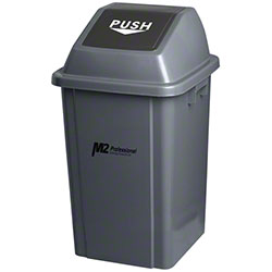 M2 Professional EZ-Push Square Waste Container w/Lid - 100L