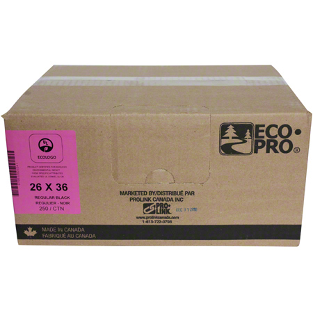 PRO-LINK® EcoPro® Low Density - 26 x 36, Regular, Black