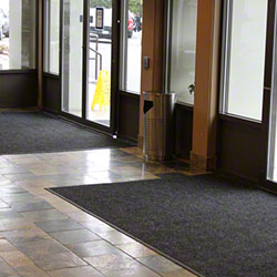 Axia Distribution Diamond Charcoal Black Entrance Mat-3'x10'