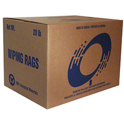 Rotex White Terri Rag - 20 lb. Box