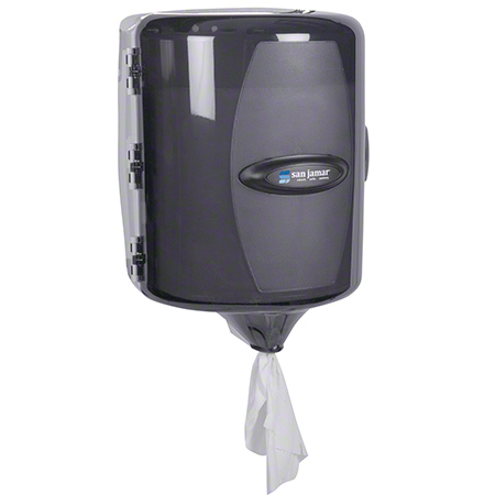 San Jamar® Adjustable Centerpull Towel Dispenser - Black