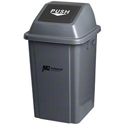 M2 Professional EZ-Push Square Waste Container w/Lid - 100L