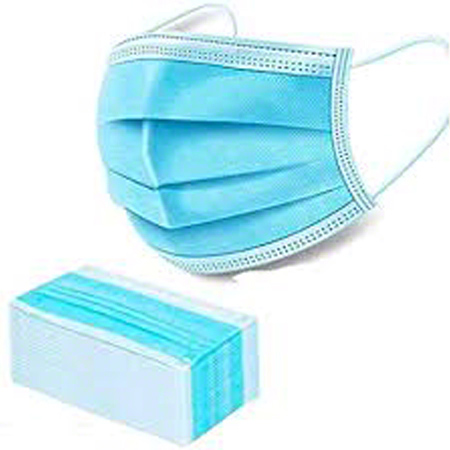 Surgical 3-Ply Disposable Pleated Mask