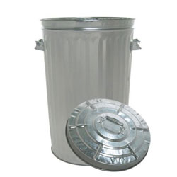 Galvanized Garbage Can w/Lid - 26 Gal.