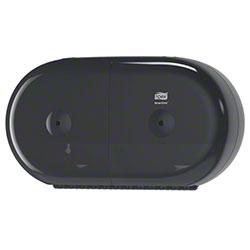 Tork® SmartOne Twin Mini Toilet Roll Dispenser - Black