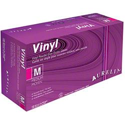 Aurelia® Clear White Vinyl Powder-Free Glove - Medium