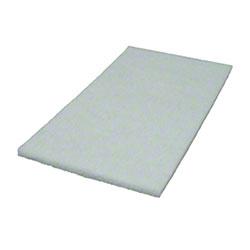 """Americo White Polish Floor Pad - 14"""" x 20"""""""