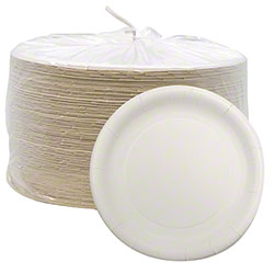 Aspen White Ultra Coated Paper Plate - 10 1/16""