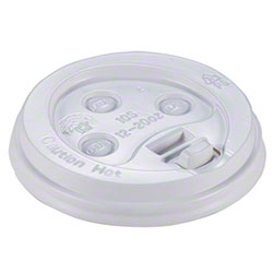 Empress™ Dome Lid For 10-20 oz. Hot Cup - White