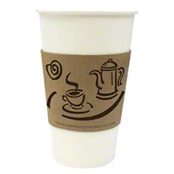 Empress™ Hot Cup Sleeve For 10-20 oz. Cups - Coffee Print