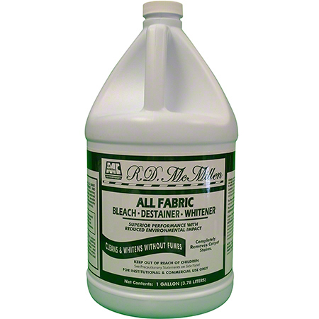 R.D. McMillen All Fabric Bleach, Destainer, Whitener - Gal.