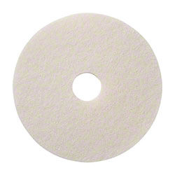 SSS® White High Luster Polishing Floor Pad - 15""