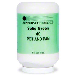 Sunburst Solid Green 40 Pot & Pan Detergent - 4 lb.