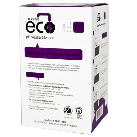 Buckeye® Eco® E31 pH Neutral Cleaner - 1.25 L