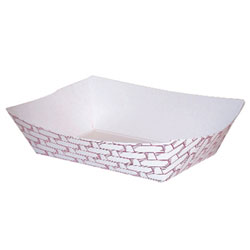 200 2# Red Weave Food Tray (1000)