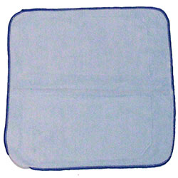 "Microfiber & More 16"" x 16"" 300gsm Microfiber Cloth - Blue"