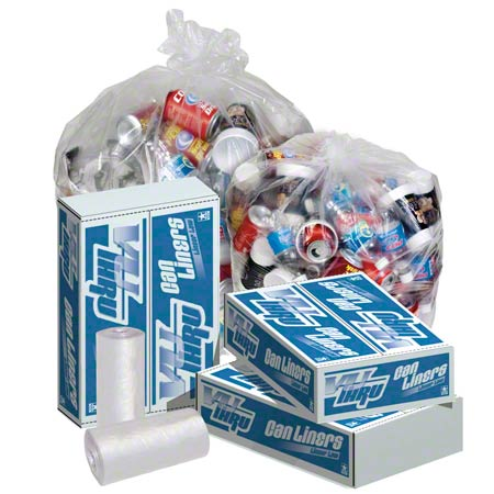 Pitt Vu-Thru Clear Can Liner - 24 x 23, 0.35 mil